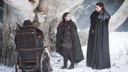 Bosque sagrado s7 Bran Sansa e Arya