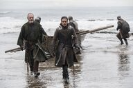 Jon and Davos on Dragonstone