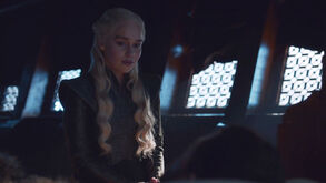 Dany sees Jon beyond the wall