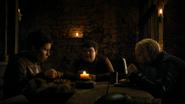 Torta-Quente, Podrick e Brienne conversando