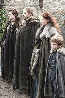Эддард Старк с семьей 1x01