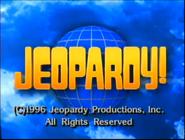 Jeopardy! 1995-1996 copyright card