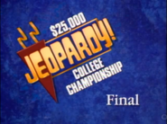 Jeopardy! 1993 College Championship Finals intertitle