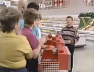 Supermarket Sweep David Talks to Contestants