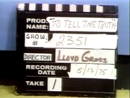 To Tell the Truth Production Slate 19750513