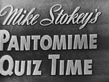 Mike Stokey's Pantomime Quiz