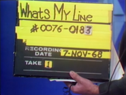 What's My Line Production Slate 19681107