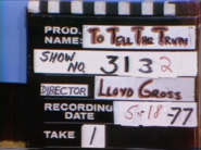 To Tell the Truth Production Slate 19770518