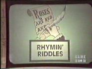 Rhymin' Riddles