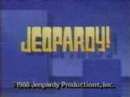 Jeopardy! 1988 copyright card