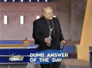Dumb Answer of the Day Louie Walks with Award
