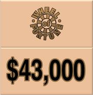 WOF $43,000
