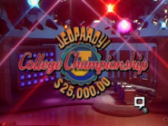 Jeopardy! Inaugural College Championship title card