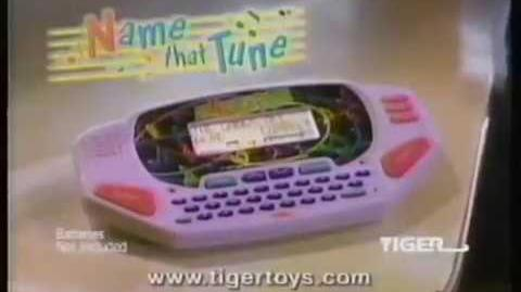Tiger Name That Tune Handheld Video Game Ad (1997) (windowboxed)