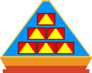 Pyramid front game board blue 6 by mrentertainment dd3fb2j
