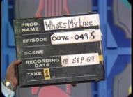 What's My Line Production Slate 19690918