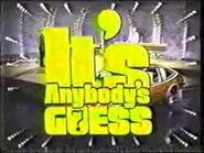 It's Anybody's Guess Logo