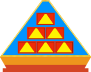 Pyramid front game board blue 4 by mrentertainment dd3fb2j