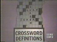 Crossword Definitions (Cullen)