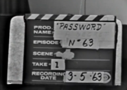 Password Production Slate 1963