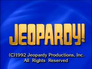Jeopardy! 1992-1993 season copyright card-1