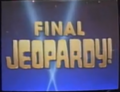 Jeopardy! 1993 Final Jeopardy intertitle