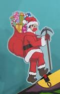 Santa Hans Wearing a Red Mask
