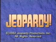 Jeopardy! 1992-1993 season copyright card-2
