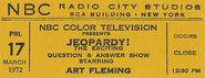 Jeopardy ticket