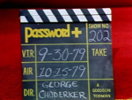 Password Plus Production Slate 202