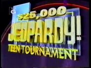 Jeopardy! Season 13 Teen Tournament Title Card