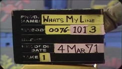 What's My Line Production Slate 19710304