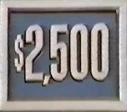 $2,500