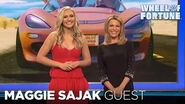 Maggie Sajak Introduced as the Special Guest Letter-Turner for Weekend Getaways Wheel of Fortune