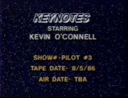 Keynotes Production Slate