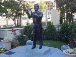 A statue of Bert Parks at the Sheraton Hotel in Atlantic City, New Jersey.