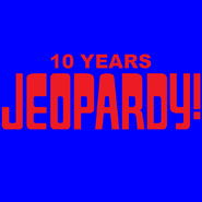 Jeopardy! 10 Years Logo