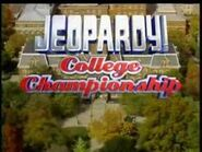Jeopardy! Season 19 College Tournament Title Card