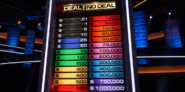 Deal or no Deal Monopoly Money Board