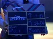 Super Password 1984 Production Slate