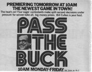 Pass the buck TV Guide Ad