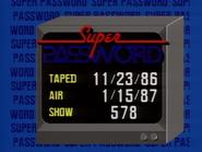 Super Password 1987 Production Slate 2