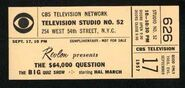 Game show ticket