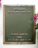Dennis james grave