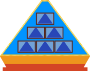 Pyramid front game board blue 5 by mrentertainment dd3fb2j