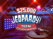 Jeopardy! 1991 Teen Tournament title card
