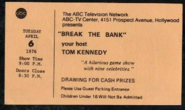 Break the Bank (April 06, 1976)