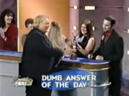 Dumb Answer of the Day Louie Presents Award to Contestant