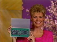Vanna Holding $25,000 Card in 1997