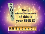Go to Wheeloffortue.com if this is your Spin ID